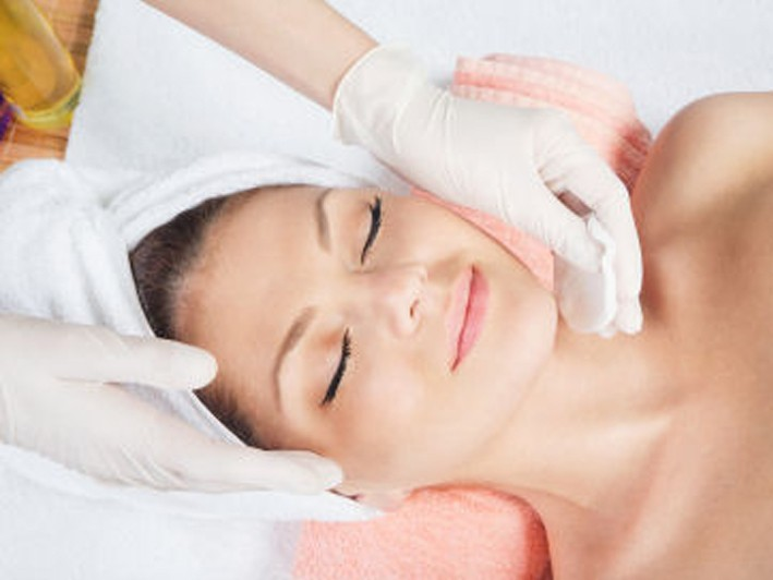 $99 for La Piele Triple Action: Cherry Enzyme with Dermafrac Micro-Needling Infusion and LED Red and Blue Light Combo ($320 Value)