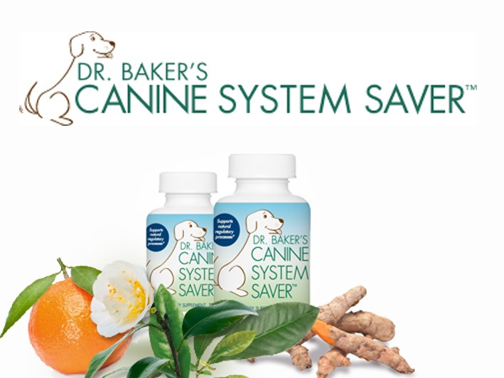 Help Your Dog Get Well, Stay Well and Age Well - $45 for Dr. Baker's Canine System Saver, 120 capsules (1-2 month supply)
